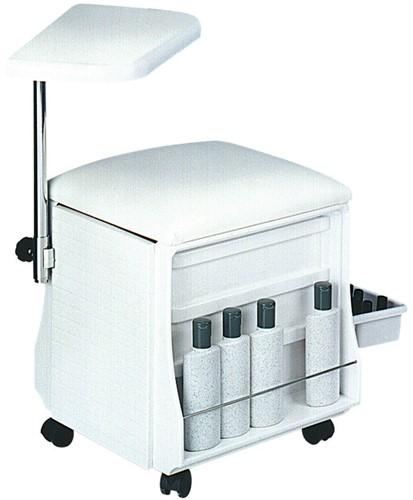 Tafel en stoel voor manicure wit