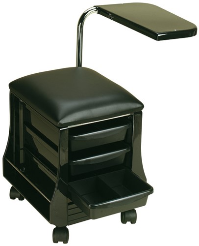 Tafel en stoel voor manicure zwart