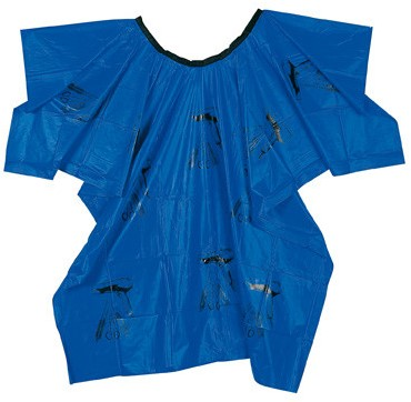 Comair Verfmantel blauw plastic met motief 3040322