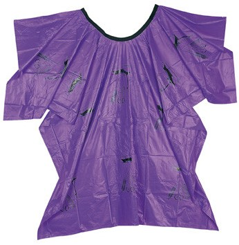 Comair Verfmantel violet plastic met motief 3040326