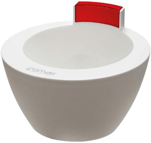 Comair Verfbakje - Treatment Bowl (Wit + Rood)