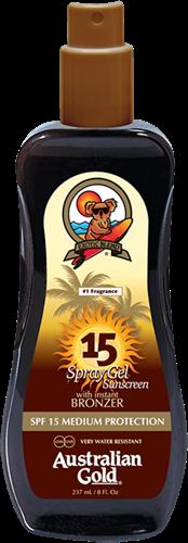 Australian Gold SPF 15 Spray Gel met Bronzer