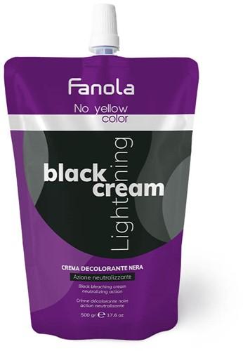 Fanola No Yellow Color Black Cream Lightener - blondeercreme (500gr)