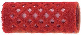 Fluweelroller kort 18 mm 12 st rood 4121809