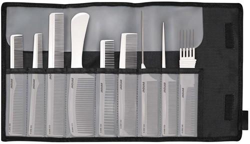 Jaguar A-Line Comb Set Wit 9 stuks