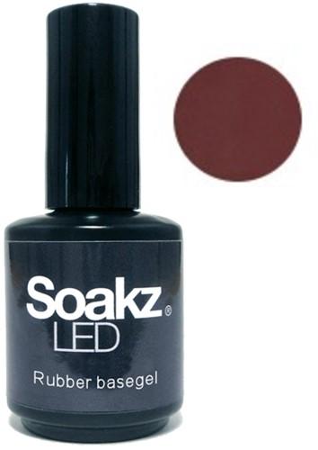 Soakz Rubber Basegel Dark Nude 15ml
