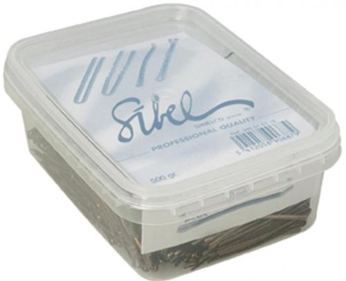 Haarschuifspelden Bruin (50mm)