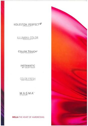 Wella kleurenkaart (Koleston Perfect Me+, Illumina, Color Touch)